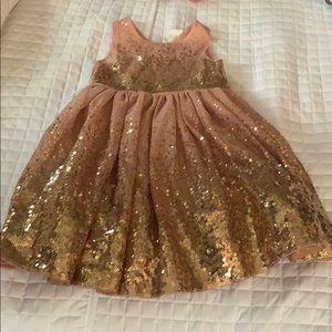 Girls holiday sequin dress
